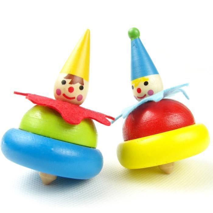 MagiDeal Bo/îte /à Musique Wind-up Clown Dancing en Bois Jouet Musical Swan Lake Cadeau Anniversaire pour Enfant B/éb/é