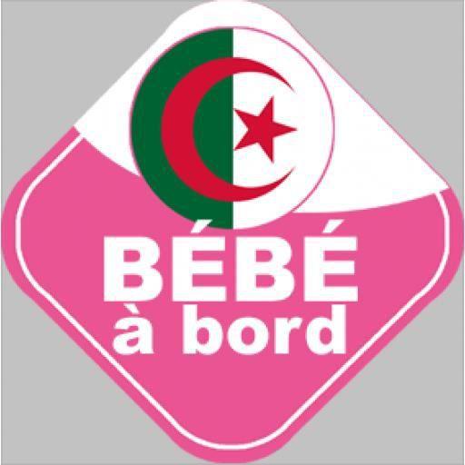 BÉBÉ À BORD  bebe à bord d'origine Algerienne (10 cm)
