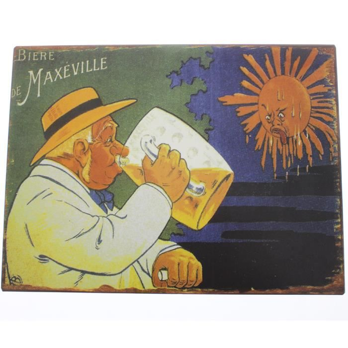 Plaque murale d corative vintage bi re de maxeville 24 x - Affiche murale decorative ...