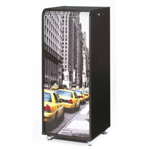 Grand caisson de bureau mobile 47 2 cm noir new york for Bureau new york