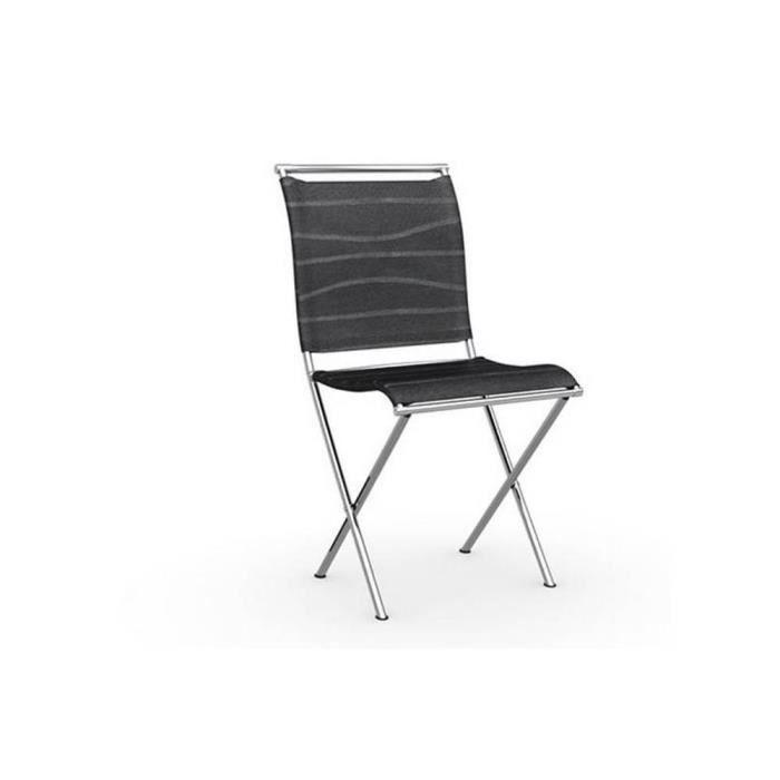 acier AIR Chaise structure design pliante FOLDING chromé xBodrCe