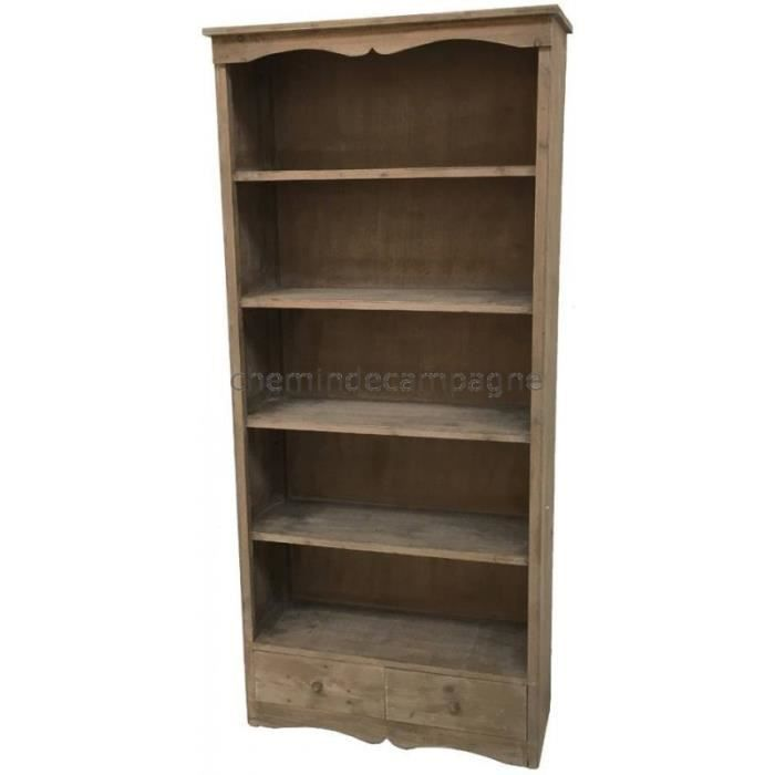 Style ancienne grande biblioth que armoire bahut meuble for Ancienne collection maison du monde