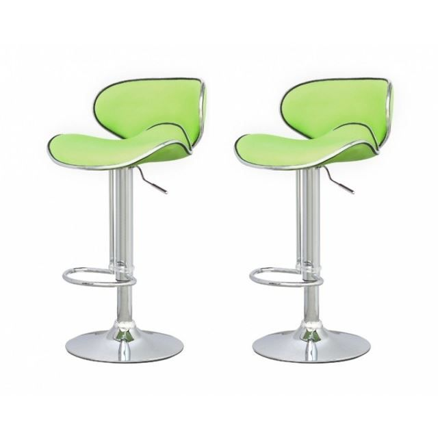 tabouret de bar vert x2 elite achat vente tabouret de bar pvc acier chrom cdiscount. Black Bedroom Furniture Sets. Home Design Ideas
