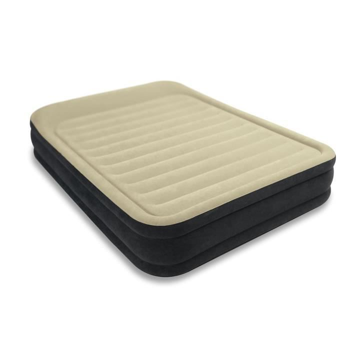 matelas lectrique gonflable 2 places intex achat. Black Bedroom Furniture Sets. Home Design Ideas