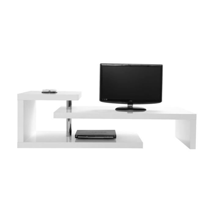 miliboo meuble tv design laqu blanc turn achat. Black Bedroom Furniture Sets. Home Design Ideas