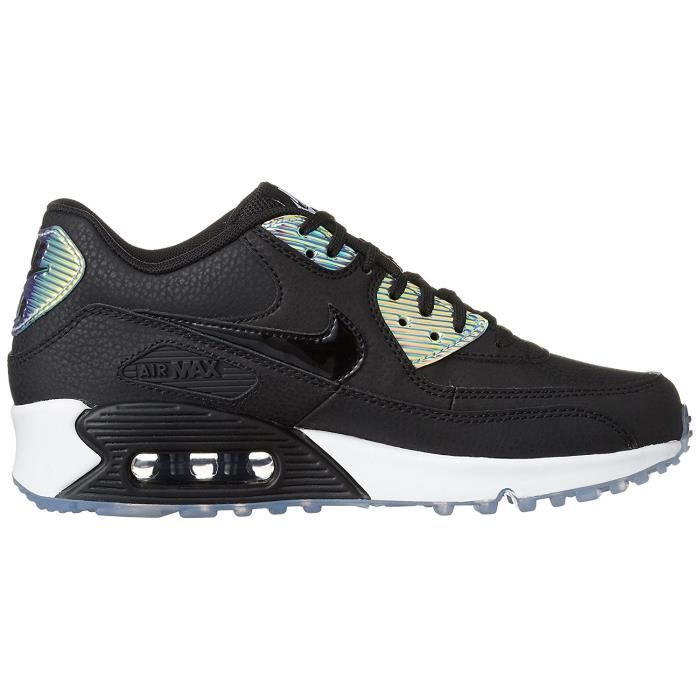 competitive price 03187 7ea11 Baskets Nike Air Max 90 Leather Premium Femme, Chaussures de Running Noir