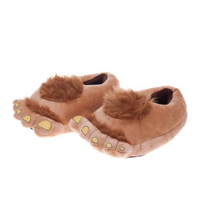 Pantoufles monstre Bigfoot cartoon Coton slippers LLT-XZ036Marron42 VKWt5