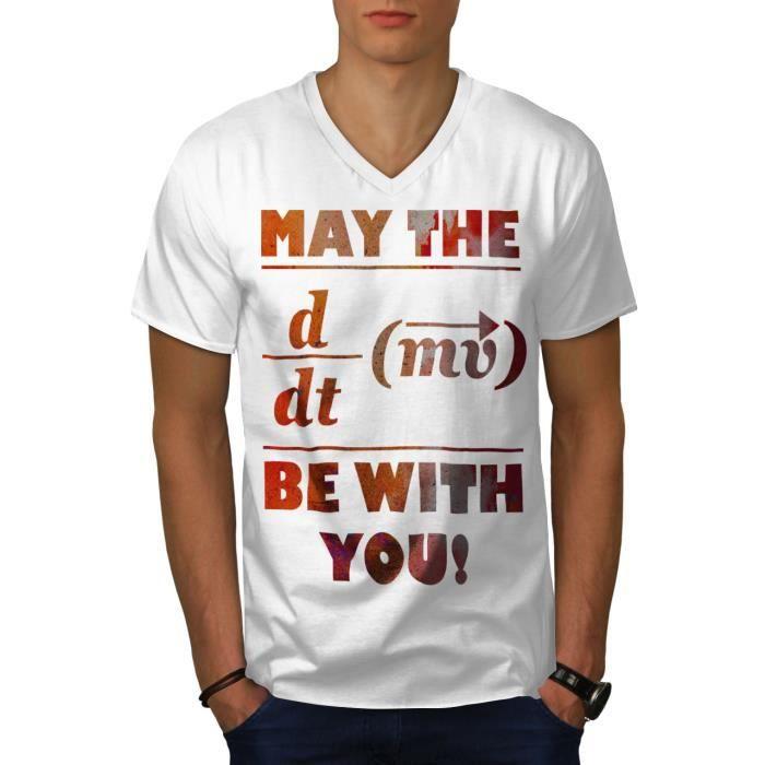 Wellcoda dur Math Femme T-Shirt col V Drôle question conception graphique Tee