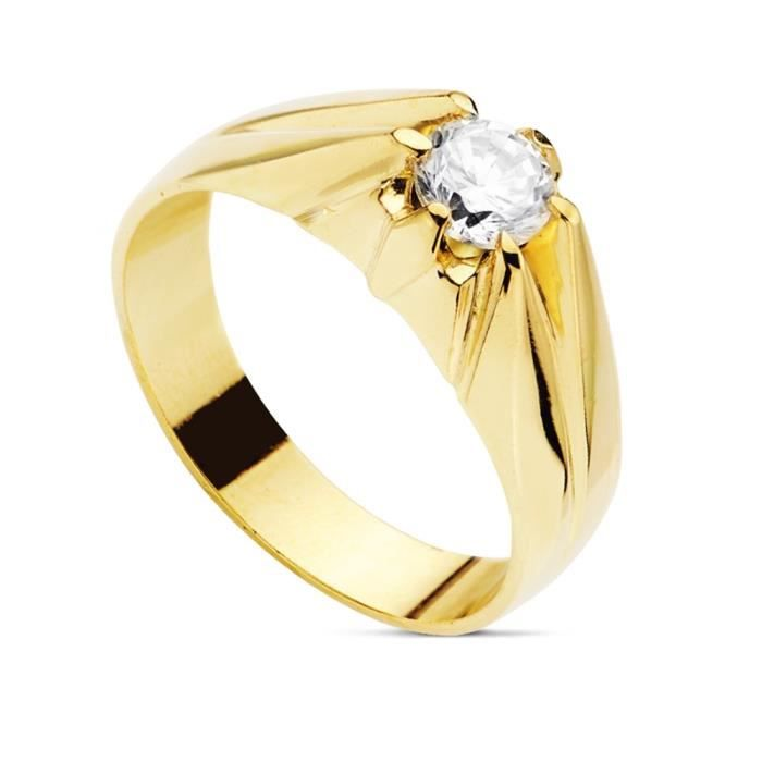 bague solitaire or homme