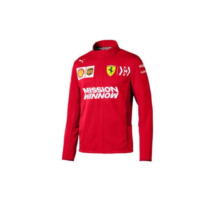 2020 Scuderia Ferrari F1 Team Veste polaire softshell pour homme Produit officiel