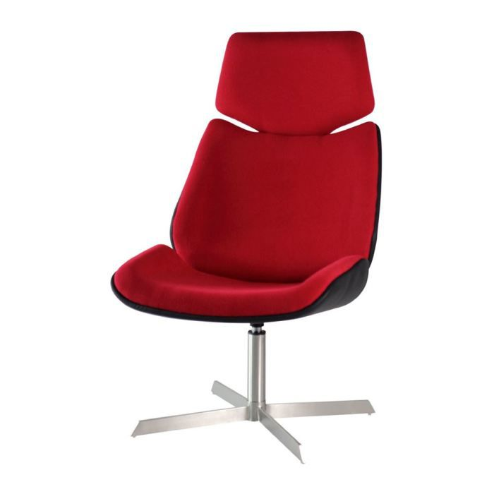 fauteuil design de bureau rouge cin achat vente. Black Bedroom Furniture Sets. Home Design Ideas