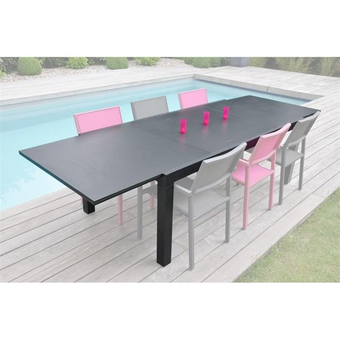 Table avec extension 3 metres factory achat vente table de jardin table ac extension 3 m for Avis table de jardin alu fibre de ciment