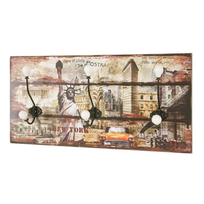 Porte manteaux mural hedvig motifs achat vente pat re for Porte photo mural