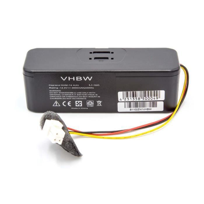 SR8F31 SR8F40 SR8F51 Remplace: VCA-RBT20. 14.4V pour aspirateur Samsung Navibot Airfresh SR8F30 vhbw Ni-MH Batterie 2100mAh