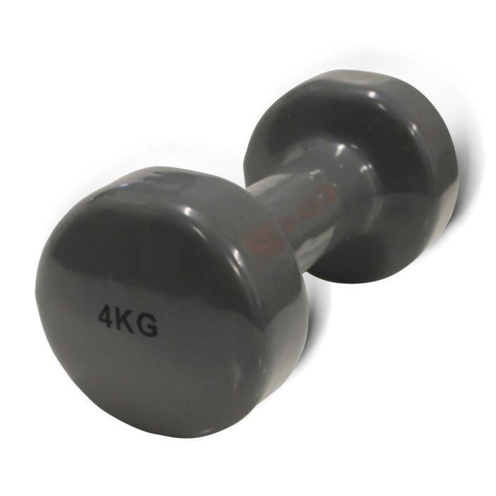 FYTTER Ergo bell AEB04B, haltère vinyle gris clair de 4 kg.