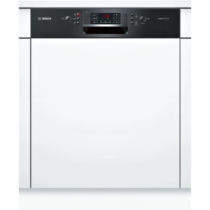 Lave-vaisselle encastrable BOSCH SMI46AB04E - 12 couverts - Moteur induction - Largeur 60 cm - Classe A++ - 44dB - Bandeau inox/silv