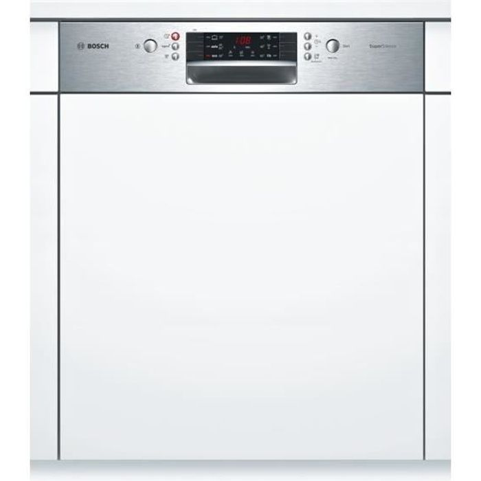 Lave-vaisselle encastrable BOSCH SMI46AS04E - 12 couverts - Moteur induction - Largeur 60 cm - Classe A++ - 44dB - Bandeau inox/silver