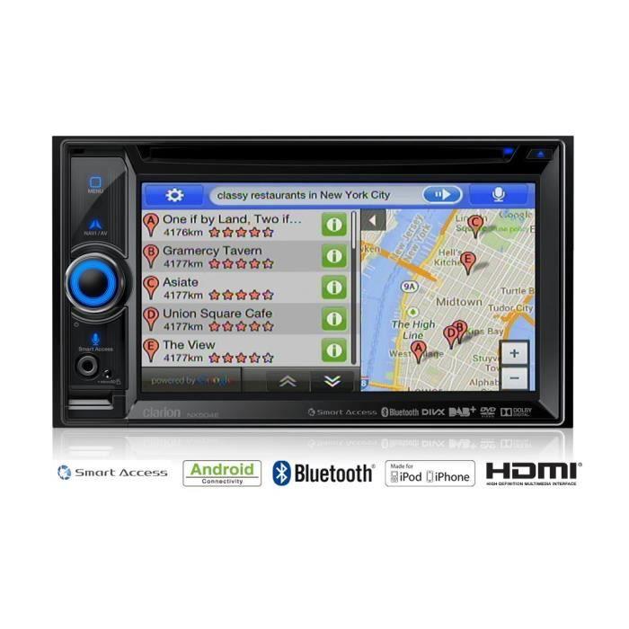 CLARION NX504E Station multimédia DVD 2 DIN