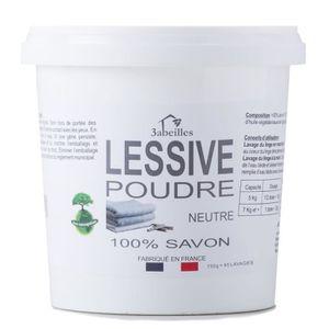 LESSIVE 3 ABEILLES Lessive poudre - Neutre - Sans additif