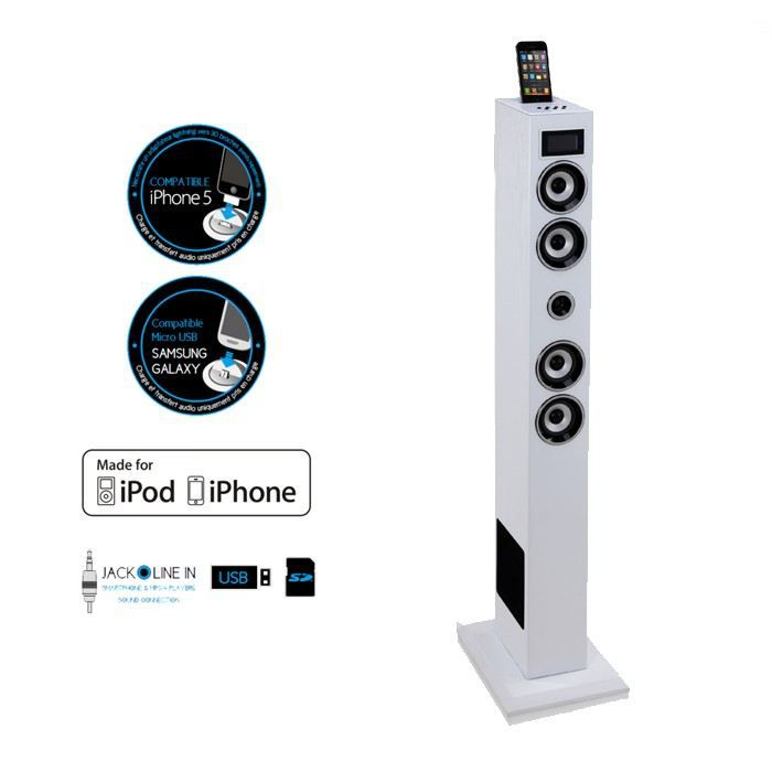 soundvision sv t04w tour iphone ipod achat vente station d 39 accueil sound vision sv t04w. Black Bedroom Furniture Sets. Home Design Ideas