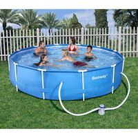 KIT PISCINE  Piscine Ronde Steel Frame Pools Bleue Ø3,66m