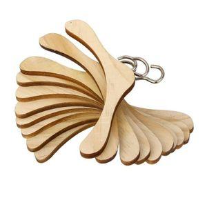 PORTE-MANTEAU 10pcs 1-3 BJD Poupées d'accessoires en bois Vêteme