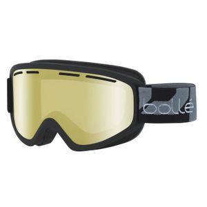 Qii lu Lunettes de Ski Masque Anti-poussi/ère Coupe-vent D/étachable Snowboard /équitation Motoneige pour Moto cross Rouge + noir
