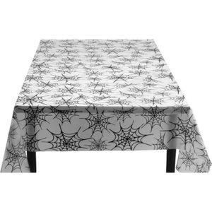NAPPE DE TABLE JETABLE Nappe toile d'araignée plastique Halloween 135 x 2