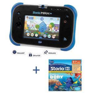 TABLETTE ENFANT VTECH - Tablette STORIO MAX 2.0  bleue & Jeu Le mo