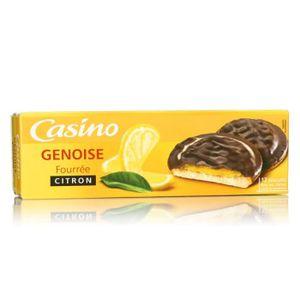 BISCUITS SABLÉS CASINO Génoises Fourrées Citron 150g