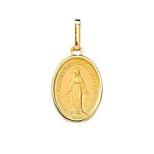 PENDENTIF VENDU SEUL DIAMANTLY Medaille Vierge miraculeuse or 750/1000°