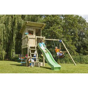 STATION DE JEUX Aire de jeux pour enfants en bois, 120cm de hauteu