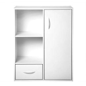 PETIT MEUBLE RANGEMENT  Meuble de rangement 2 cases + 1 tiroir + 1 porte b