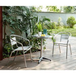 Table ronde salon de jardin