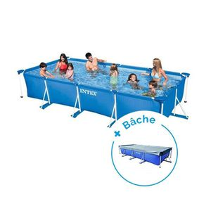 PISCINE Pack Piscine tubulaire Intex MetalFrame Junior 4,5