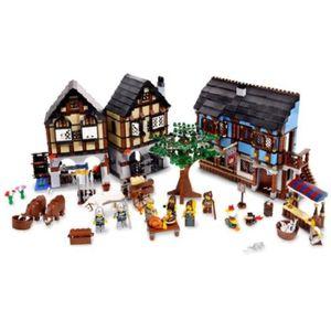 ASSEMBLAGE CONSTRUCTION Jeu D'Assemblage LEGO IY1L7 Château Village Marché