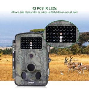 Campark Mini cam/éra de Trail de Petite Taille 12 MP 1080p HD avec Objectif Grand Angle 120 /° et Vision Nocturne LED Infrarouge LCD 6,3 cm