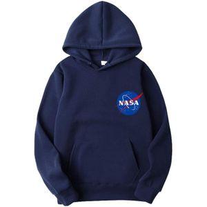 SWEATSHIRT Sweatshirt EQ3OJ NASA Logo Hoodie Universe Back Pr