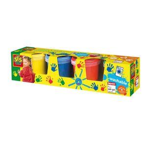 JEU DE PEINTURE SES CREATIVE 00305 - Lot de 4 pots de peinture à d