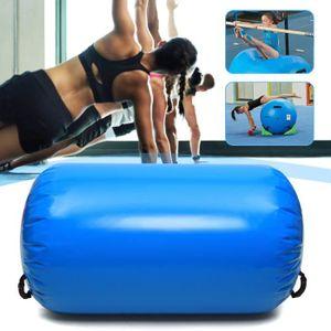 TAPIS DE SOL FITNESS TEMPSA Gonflable Rouleau Gymnastique PVC Bleu