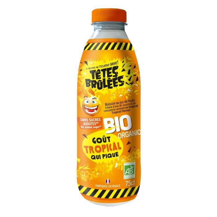 Boisson TETES BRULEES goût TROPICAL 75 cl