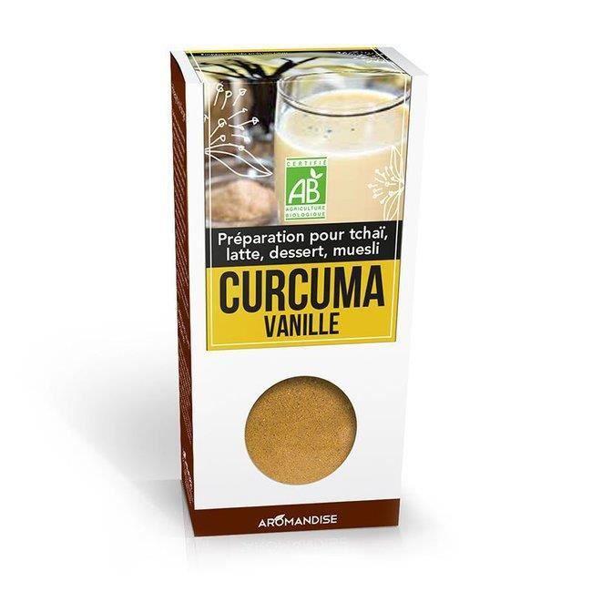 Curcuma Latte Vanille bio 60g - Aromandise