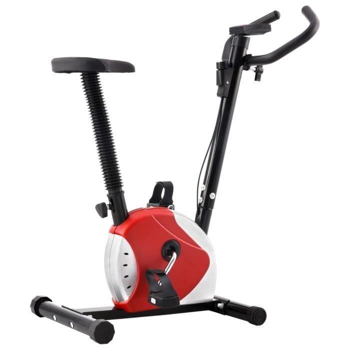 Vélo d'appartement-Vélo Cardio Biking spinning d'Exercice -avec résistance à courroie Rouge #R#3158