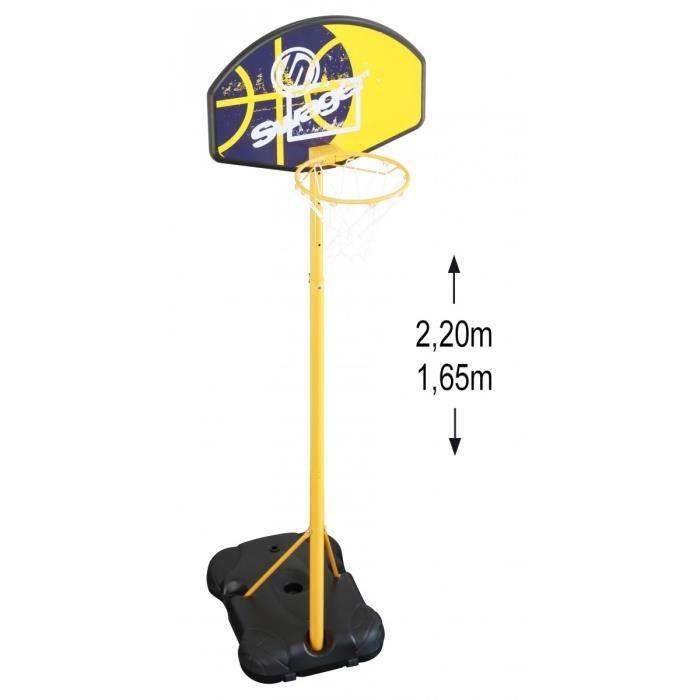 Panier de Basket Swager The Black Mamba sur Pied, Mobile et Hauteur réglable de 1,65m à 2,20m – Basketball