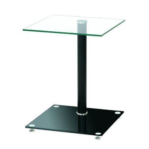 Haku Möbel 33505 Table Basse d'Appoint Verre Trempé Aluminium/Noir…
