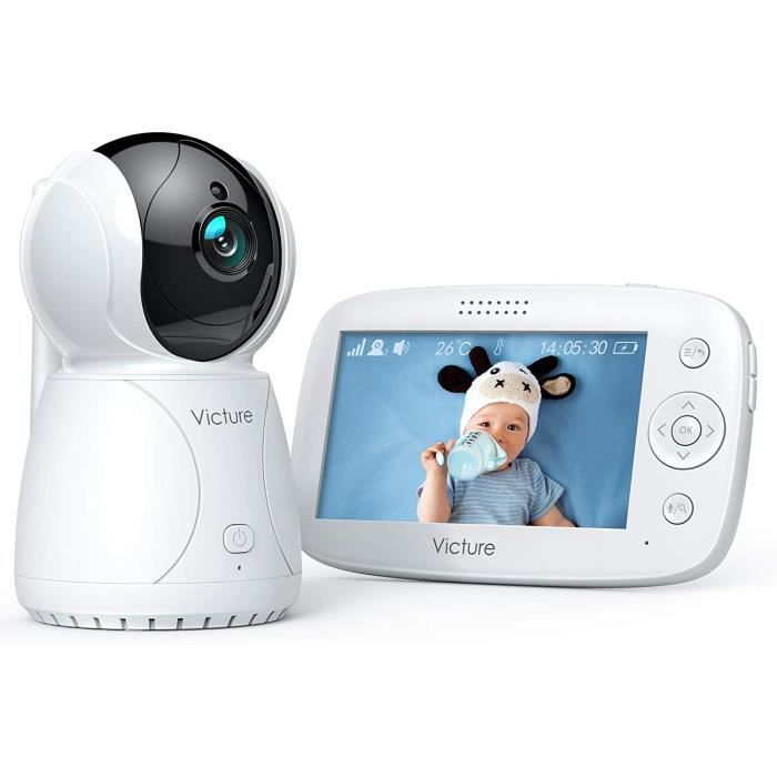 Victure Babyphone Cam&eacutera Moniteur b&eacutebé 4.3- LCD, Vid&eacuteo B&eacutebé Surveillance, Batterie R17