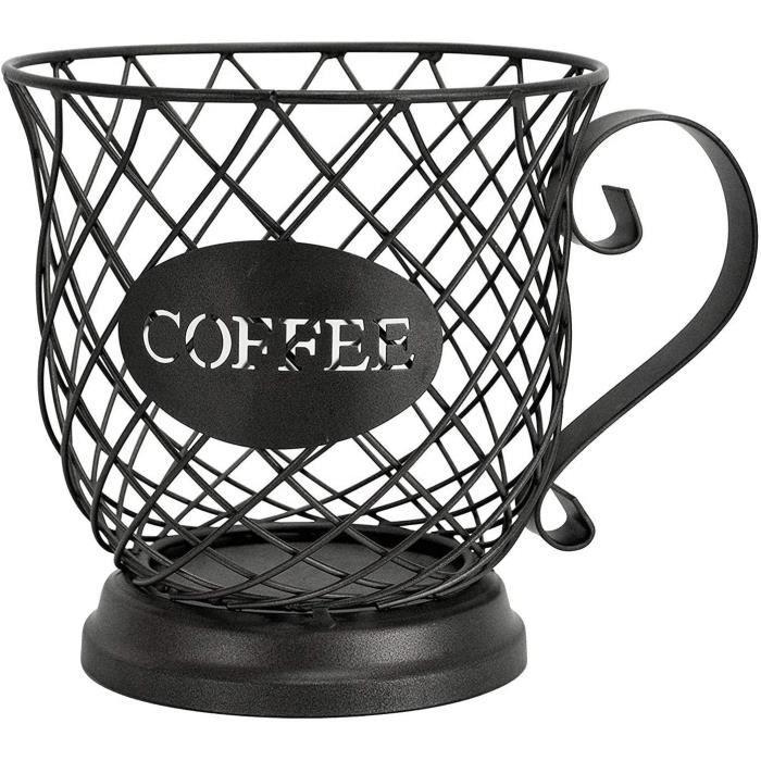 PORTE-VERRE Porte-Dosette de Café, Tasse Organisateur, Porte-Tasse Porte-Dosette de Café et Expresso, Panier de Rangement de Ta2602