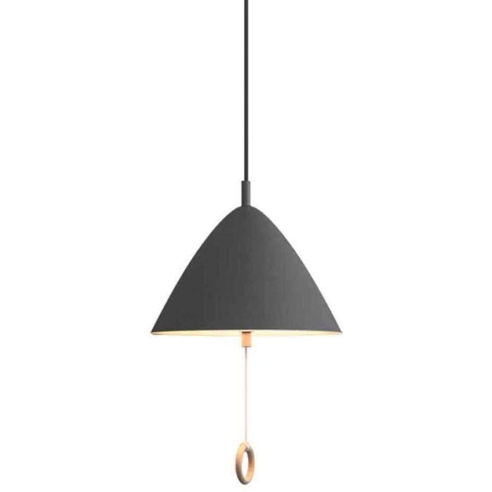 BELYSN Lampe de Suspension Moderne E27 * 2 avec Interrupteur à Tirette R&eacuteglable en Hauteur Lustres Macaron Abat-Jo992