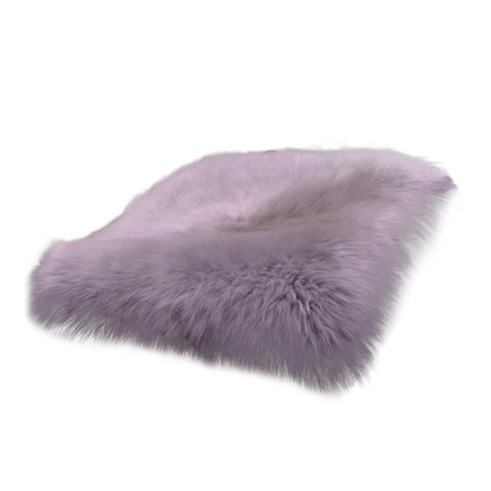 Tapis de siège universel pour voiture, housse de coussin, fausse fourrure, chaud et chaud, automne - hiver, gris