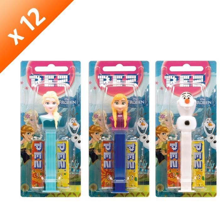 [LOT DE 12] Distributeur + 4 recharges de PEZ 34 g PEZ